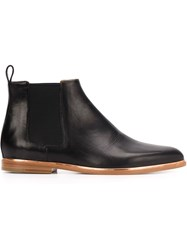 Veronique Branquinho Ankle Boots With Elasticated Side Panels Black