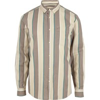 River Island Cream Stripe Long Sleeve Shirt