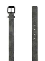 Topman Grey Washed Charcoal Faux Leather Belt