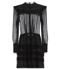 Isabel Marant Ramses Ruffled Silk And Linen Dress Black