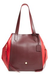 Lodis Downtown Charlize Rfid Leather Tote Red Red Chianti