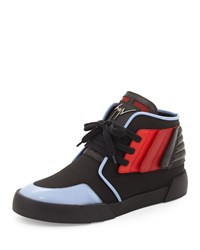 Giuseppe Zanotti Foxy London High Top Sneaker Black Red Blue Size 44Eu 11D