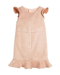 Milly Minis Paneled Stretch Sueded Dress Pink