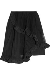 Simone Rocha Ruffle Trimmed Tiered Tulle Skirt Black