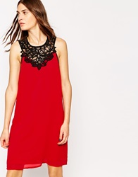 Y.A.S Tie Waist Dress With Lace Yoke Tangored