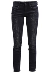 G Star Gstar Midge Cody Mid Skinny Slim Fit Jeans Ings Black Dark Blue Denim