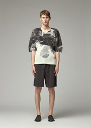 Homme Plisse Issey Miyake 'S Action Painting T Shirt In Black Size 2 100 Polyester
