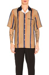 3.1 Phillip Lim Bowler Striped Shirt In Brown Stripes Brown Stripes