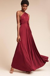 Anthropologie Ginger Convertible Maxi Wedding Guest Dress Wine