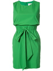 Milly Sleeveless Short Dress Women Cotton Polyamide Polyester Spandex Elastane 10 Green