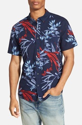 Quiksilver 'Scorpion Forest' Short Sleeve Shirt Navy Blazer
