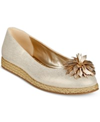 Bandolino Blondelle Slip On Espadrille Flats Gold