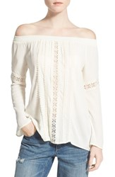 Women's Socialite Crochet Detail Off The Shoulder Top
