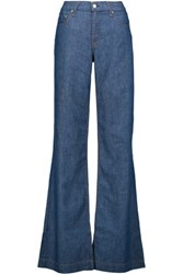 Rag And Bone High Rise Flared Jeans Mid Denim