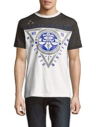 Affliction Athletic Division Short Sleeve Cotton Tee White Black
