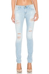 Acquaverde Skinny Jean Light Used Denim Destroy