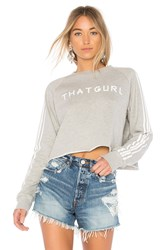 Baja East That Gurl Cropped Sweatshirt Light Gray