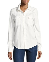 Baandsh Bridget Button Down Cotton Shirt White