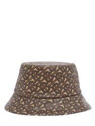 Burberry Monogram Nylon Bucket Hat Brown