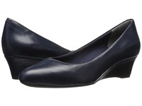 Rockport Total Motion Catrin Deep Ocean Leather Women's Shoes Black