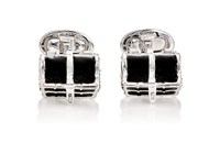 Jan Leslie Men's Treasure Chest Cufflinks Silver