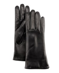Neiman Marcus Leather Tech Gloves Blk