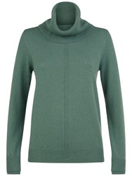 Jaeger Cashmere Cowl Neck Jumper Green