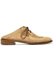 Robert Clergerie Jaly 25 Woven Mesh Mules Nude And Neutrals
