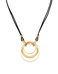 Robert Lee Morris Primal Connection Circle Pendant Leather Necklace