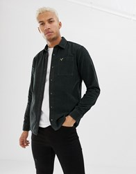 Voi Jeans Shirt In Green Corduroy