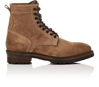 Project Twlv Men's Royal Suede Lace Up Boots Tan