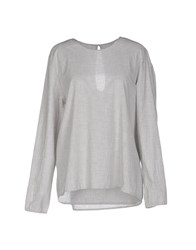 Local Apparel Blouses Light Grey