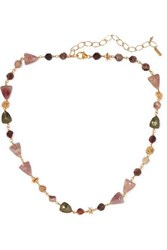 Chan Luu Gold Plated Quartz Necklace One Size