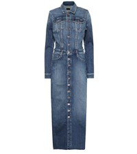 Mother Cover Up Denim Maxi Dress Blue