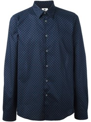 Paul Smith Ps By Dotted Print Shirt Blue