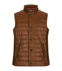 La Martina Quilted Nappa Leather Gilet Male
