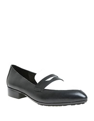 William Rast Olivia Leather Penny Loafers Black