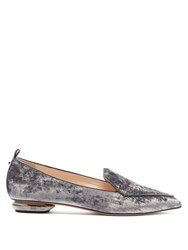 Nicholas Kirkwood Beya Crushed Velvet Loafers Light Purple
