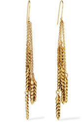 Aurelie Bidermann Wheat Gold Plated Earrings One Size