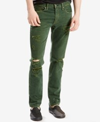 Levi's 511 Slim Fit Ripped Jeans Ironside Destructed