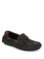 Cole Haan Slip On Leather Moccasins Black