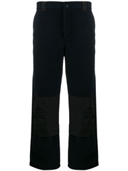 Msgm Contrast Straight Leg Trousers 60