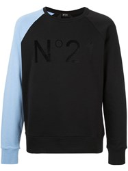 N 21 No21 Colour Block Sweatshirt Black