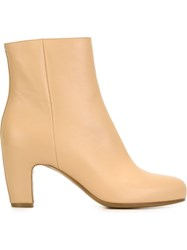 Maison Martin Margiela Maison Margiela Chunky Heel Ankle Boots Nude And Neutrals