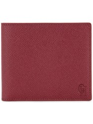 Gieves And Hawkes Billfold Wallet Red