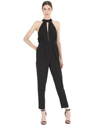Cameo Sleeveless Techno Crepe Jumpsuit