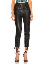 Marissa Webb Nilda Leather Lace Up Pant In Black