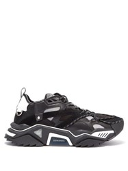 Calvin Klein 205W39nyc Strike 205 Leather And Mesh Trainers Black