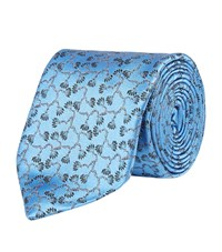 Harrods Of London Branch Limited Edition Tie Unisex Blue
