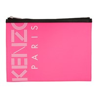 Kenzo Pink Large Logo Pouch